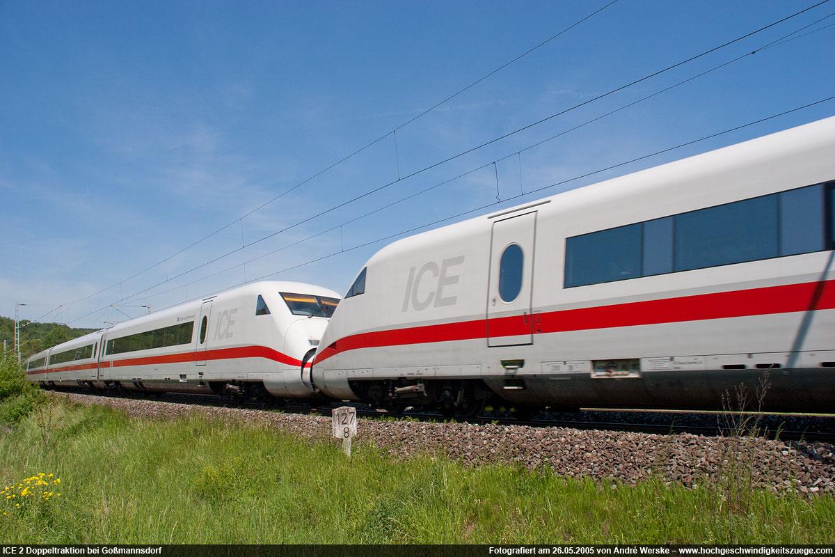 ICE 2 (Baureihe 402) Hochgeschwindigkeitszug der Deutschen