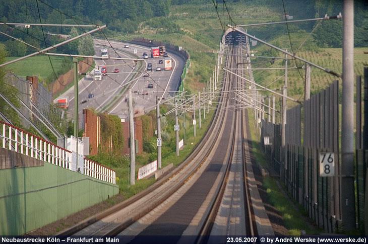 Talfahrt bei NBS Frankfurt - Köln