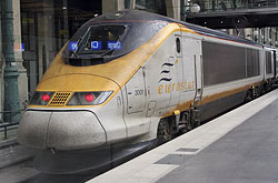 Eurostar in Paris Gare du Nord