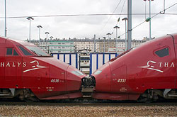 Thalys PBA und PBKA in Paris