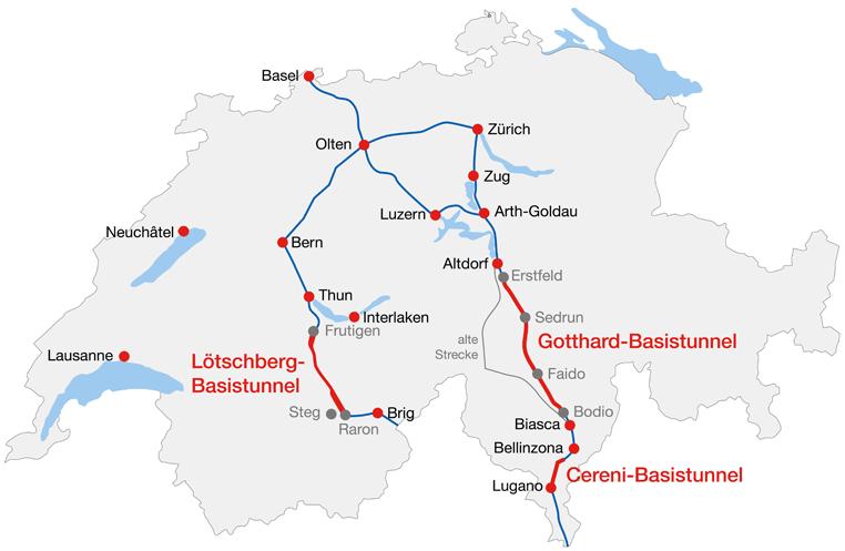 Готтардский базисный тоннель